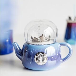 スターバックスコーヒー(Starbucks Coffee)のスターバックス中国夏 夜空 星 紫 テイーポット セット(タンブラー)