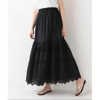 IENA SLOBE - スローブイエナ  刺繍ロングスカート