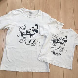 ユニクロ(UNIQLO)のユニクロ☆ミッキーTシャツ 親子コーデセット(Tシャツ/カットソー)