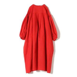 ホリデイ(holiday)のCOTTON LINEN SMOCK DRESS コットンリネンスモックドレス(ロングワンピース/マキシワンピース)