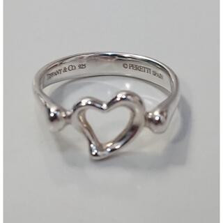 Tiffany & Co. - 0089 ティファニー 11号 オープンハート リング 925 シルバー 指輪