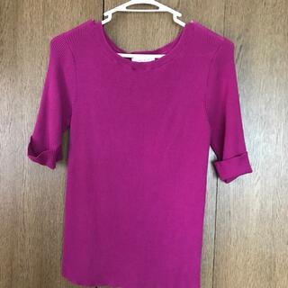 ワールドベーシック(WORLD BASIC)のワールド ニット 半袖シャツセーター(Tシャツ(半袖/袖なし))