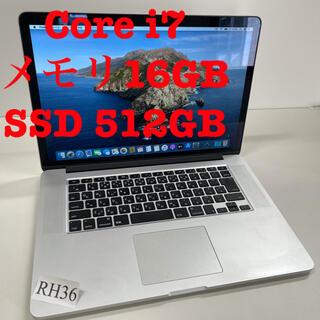 Mac (Apple) - MacBook Pro 15インチ Core i7/16GB:SSD512GB