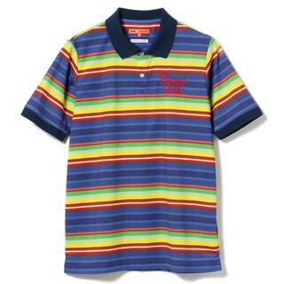BEAMS - 【美品】ビームスゴルフ 半袖 ボーダー ポロシャツ(XL)