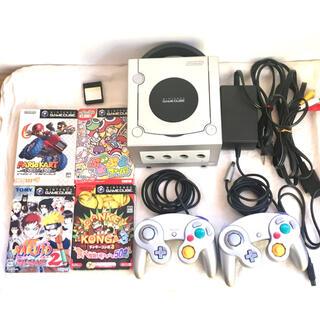 ニンテンドーゲームキューブ(ニンテンドーゲームキューブ)の任天堂 ゲームキューブ GameCube 本体一式 コントローラー2個付き(家庭用ゲーム機本体)