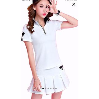 レディース ゴルフウェア 上下 セットポロシャツ スカート