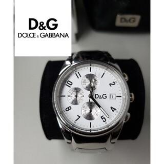ドルチェアンドガッバーナ(DOLCE&GABBANA)の美品 ドルガバ 「サンドパイパー」 クロノグラフ D&G(腕時計(アナログ))