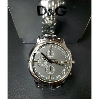 ドルチェアンドガッバーナ(DOLCE&GABBANA)の美品 ドルガバ 「オックスフォード」 クロノグラフ D&G(腕時計(アナログ))