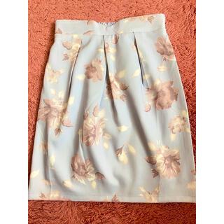 グレイル(GRL)のGRL グレイル タイトスカート 花柄スカート 膝丈(ひざ丈スカート)