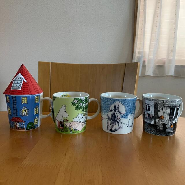 ARABIA(アラビア)のアラビア ムーミン マグカップ 4点❣️ インテリア/住まい/日用品のキッチン/食器(グラス/カップ)の商品写真