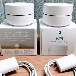 グーグル(Google)のGoogle Wifi ルーターと拡張ポイント (2台1セット)(PC周辺機器)