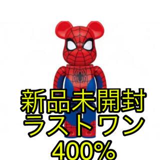MEDICOM TOY - マーベル ハッピーくじ ラストワン ベアブリック400%スパイダーマン