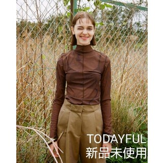 TODAYFUL - 【TODAYFUL】Marble Turtle Tops ダークブラウン