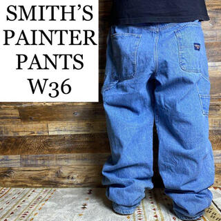 ART VINTAGE - SMITH'SデニムペインターパンツW36古着青ジーパンバギー太いジーパンGパン