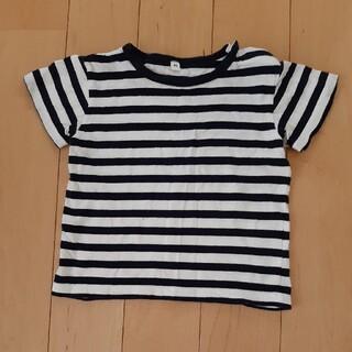 ムジルシリョウヒン(MUJI (無印良品))のボーダー 無印 黒 90 Tシャツ(Tシャツ/カットソー)