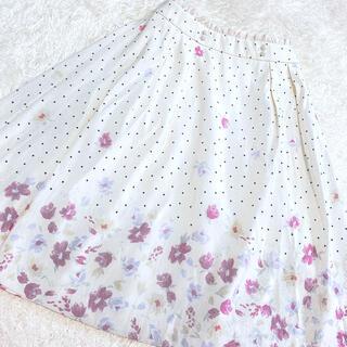 ロディスポット(LODISPOTTO)のLODISPOTTO♡ドット花柄スカート(ひざ丈スカート)
