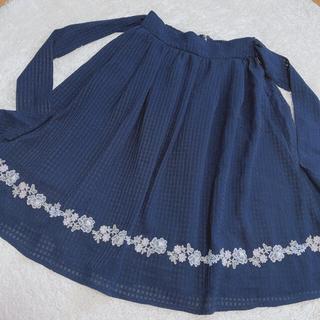 ロディスポット(LODISPOTTO)のLODISPOTTO♡ネイビースカート(ひざ丈スカート)