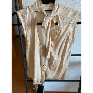 シャネル(CHANEL)のシャネルベージュブラウスSサイズ(シャツ/ブラウス(半袖/袖なし))