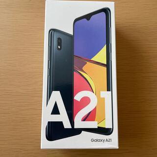 SAMSUNG - Galaxy A21 新品未使用 SIMフリー ブラック