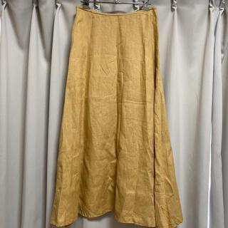 ムジルシリョウヒン(MUJI (無印良品))の無印良品 リネン フレアスカート(ロングスカート)