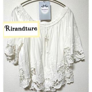 リランドチュール(Rirandture)のリランドチュール  ブラウス レース 白 麻 (シャツ/ブラウス(半袖/袖なし))