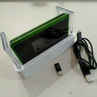 エヌイーシー(NEC)のWiMAX2+ Speed Wi-Fi NEXT WX06 クレードル付(PC周辺機器)