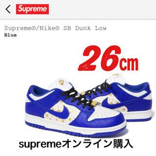 シュプリーム(Supreme)のSupreme Nike SB Dunk Low シュプリーム ナイキ ブルー(スニーカー)