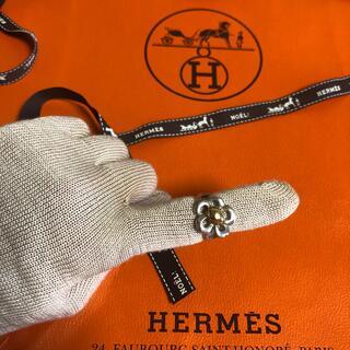 エルメス(Hermes)のHERMES★K18.シルバーコンビリング★レディース★指輪(リング(指輪))