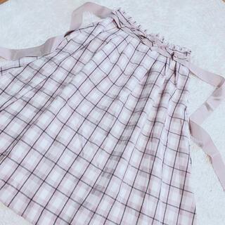 ロディスポット(LODISPOTTO)のLODISPOTTO♡ピンクチェック柄スカート(ひざ丈ワンピース)