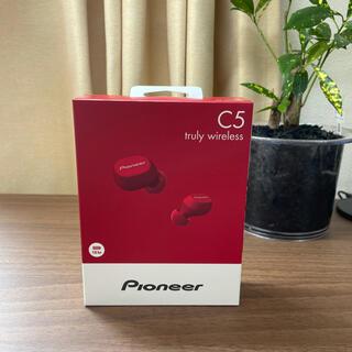 パイオニア(Pioneer)の【新品未開封】パイオニア フルワイヤレスイヤホン SE-C5TW レッド(ヘッドフォン/イヤフォン)