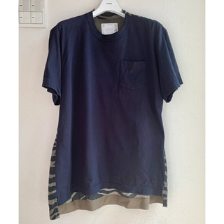 sacai - sacai 20ss ゼブラ柄 切り返し Tシャツ
