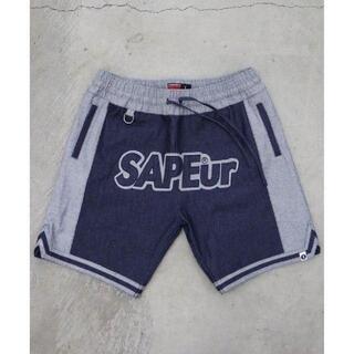 SAPEur サプール デニムバスケット ショーツ Lサイズ(ショートパンツ)