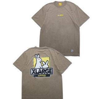 エクストララージ(XLARGE)のXLARGE FR2 Fxxk Icon Tee2 ベージュ XLサイズ(Tシャツ/カットソー(半袖/袖なし))