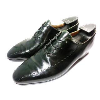 ベルルッティ(Berluti)の♂Berluti ベルルッティ ツリー付き 革靴 71/2 25.5 深緑(ドレス/ビジネス)
