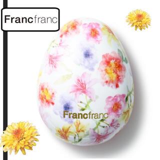 フランフラン(Francfranc)の新品未開封 Francfranc  SNSで大人気 花柄ヘアブラシ (ヘアブラシ/クシ)