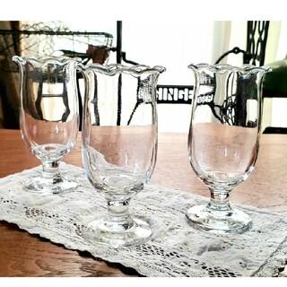 東洋佐々木ガラス - 佐々木ガラス 昭和レトロ レトロポップ 脚付き グラス パフェ皿 3個セット