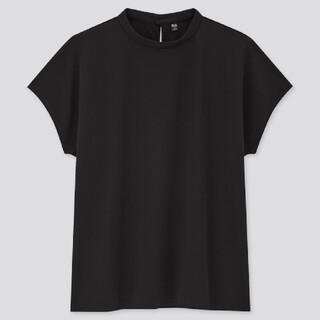 ユニクロ(UNIQLO)のユニクロ  UNIQLO クレープジャージースタンドカラーT(シャツ/ブラウス(半袖/袖なし))