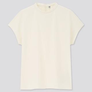 ユニクロ(UNIQLO)のユニクロ  UNIQLOクレープジャージースタンドカラーT(シャツ/ブラウス(半袖/袖なし))