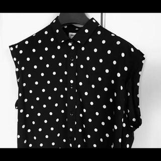 Saint Laurent - 【極美品】SAINT LAURENT ポルカドットシャツ ノースリーブ 40
