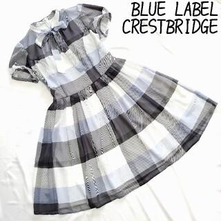 BURBERRY BLUE LABEL - BLUE LABEL CRESTBRIDGEブルーレーベル チェック ボウタイ