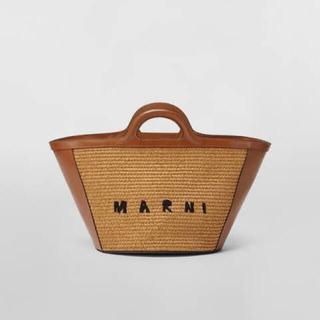 Marni - 新品MARNIマルニTROPICALIAラフィアレザースモールかごバッグ
