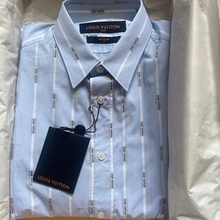 ルイヴィトン(LOUIS VUITTON)の新品タグ付き未着用 ヴィトン  ドレスシャツ ブルー ストライプ サイズS(シャツ)