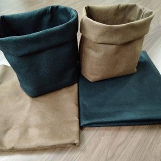 ハンドメイド♡フェルトプランター♡黒とブラウン 4枚セット♡植木鉢 鉢カバー(プランター)