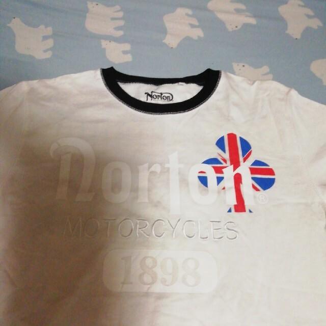 Norton(ノートン)のNortonTシャツ 白 Lサイズ メンズのトップス(Tシャツ/カットソー(半袖/袖なし))の商品写真