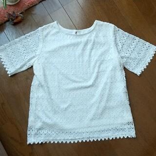 テチチ(Techichi)の美品 レース Tシャツ ホワイト♔ Te chi chi(Tシャツ(半袖/袖なし))