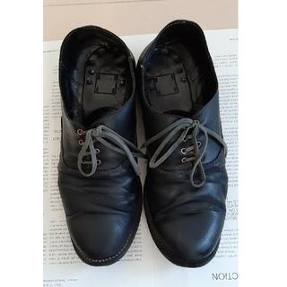 グイディ(GUIDI)のグイディ GUIDI ローファー 黒、靴ひもグレー(ブーツ)