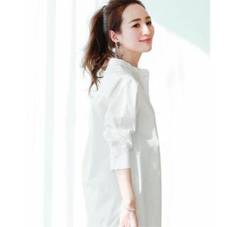 PLST - 星玲奈×ur's コットンチュニックブラウス 白