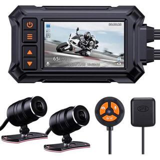 バイク用 ドライブレコーダー 多機能 全体防水防塵 前後カメラ