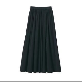 ムジルシリョウヒン(MUJI (無印良品))の洗いざらし強撚ギャザースカート  (ロングスカート)