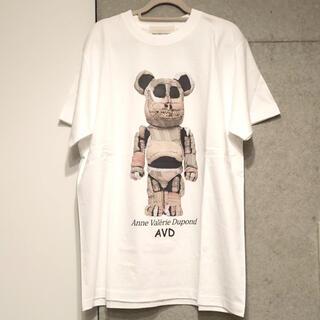 メディコムトイ(MEDICOM TOY)のAnne Valerie be@rbrick Tシャツ kaws sacai(Tシャツ/カットソー(半袖/袖なし))